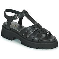 Schoenen Dames Sandalen / Open schoenen Minelli HELLHA Zwart