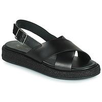 Schoenen Dames Sandalen / Open schoenen Minelli SANDILA Zwart