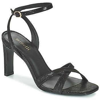 Schoenen Dames Sandalen / Open schoenen Minelli THIPHANNIE Zwart
