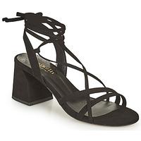 Schoenen Dames Sandalen / Open schoenen Minelli AMELIA Zwart