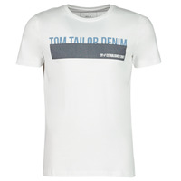 Textiel Heren T-shirts korte mouwen Tom Tailor DENIM BAND Wit