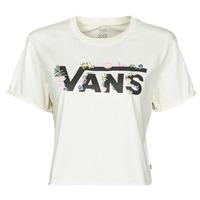 Textiel Dames T-shirts korte mouwen Vans BLOZZOM ROLL OUT Wit