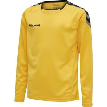 Textiel Kinderen T-shirts met lange mouwen Hummel Maillot  enfant manches longues Authentic HML jaune/noir