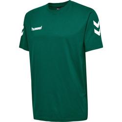 Textiel Kinderen T-shirts korte mouwen Hummel T-shirt enfant  hmlgo cotton vert sapin