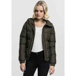 Textiel Dames Dons gevoerde jassen Urban Classics Parka femme Urban Classic hooded vert foncé