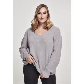 Textiel Dames Sweaters / Sweatshirts Urban Classics Sweatshirt femme Urban Classic back lace up GT gris