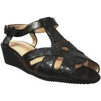 Schoenen Dames Sandalen / Open schoenen Marco TWIST Zwart leer