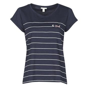 Textiel Dames T-shirts korte mouwen Esprit T-SHIRTS Blauw