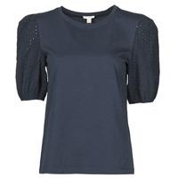 Textiel Dames T-shirts korte mouwen Esprit T-SHIRTS Zwart