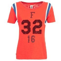 Textiel Dames T-shirts korte mouwen Franklin & Marshall POINTO Koraal