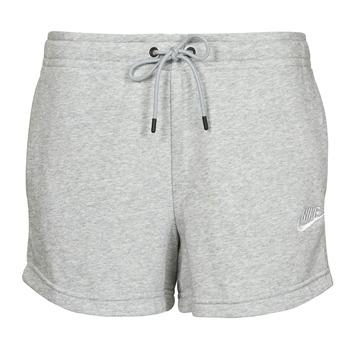 Textiel Dames Korte broeken / Bermuda's Nike NSESSNTL FLC HR SHORT FT Grijs / Wit