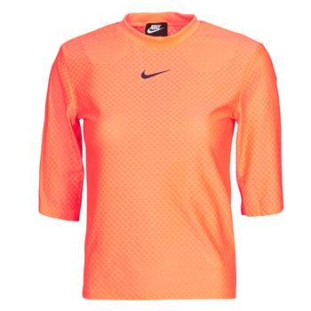 Textiel Dames T-shirts korte mouwen Nike NSICN CLSH TOP SS MESH Oranje