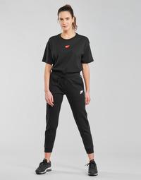 Textiel Dames Trainingsbroeken Nike NSMLNESSNTL FLC MR JGGR Zwart / Wit