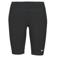 Textiel Dames Leggings Nike NSESSNTL MR BIKER SHORT Zwart / Wit