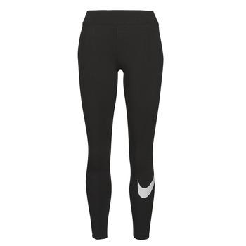 Textiel Dames Leggings Nike NSESSNTL GX MR LGGNG SWSH Zwart / Wit