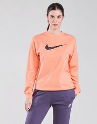 Textiel Dames T-shirts met lange mouwen Nike NSICN CLSH LS TOP HBR Roze / Violet