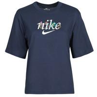 Textiel Dames T-shirts korte mouwen Nike NSTEE BOXY NATURE Blauw