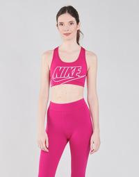 Textiel Dames Sport BH's Nike DF SWSH FUTURA GX BRA Roze / Wit