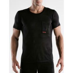 Textiel Heren T-shirts korte mouwen Code 22 Kerncode22 T-shirt met korte mouwen Parelmoer Zwart