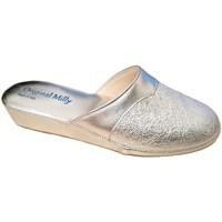 Schoenen Dames Leren slippers Milly MILLY4200arg grigio