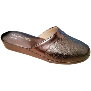 Schoenen Dames Leren slippers Milly MILLY4200pio grigio