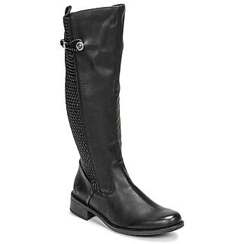 Schoenen Dames Hoge laarzen Rieker  Zwart