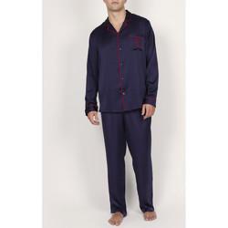 Textiel Heren Pyjama's / nachthemden Admas For Men Pyjama satijnen broek shirt Classic Admas Blauw Marine