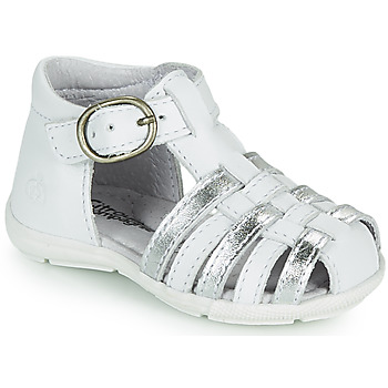 Schoenen Meisjes Sandalen / Open schoenen Citrouille et Compagnie RINE Wit / Zilver