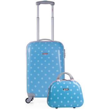 Tassen Meisjes Valise Rigide Skpat TOPOS Cabine koffer en behoefte aan meisje Turquoise