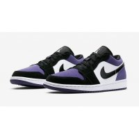 Schoenen Lage sneakers Nike Air Jordan 1 Low Court Purple  Court Purple/Black-White