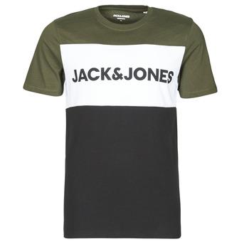 Textiel Heren T-shirts korte mouwen Jack & Jones JJELOGO Kaki