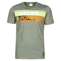 Textiel Heren T-shirts korte mouwen Jack & Jones JCONICCO Kaki