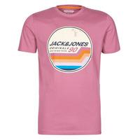 Textiel Heren T-shirts korte mouwen Jack & Jones JORTYLER Roze