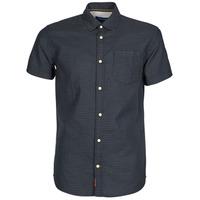 Textiel Heren Overhemden korte mouwen Jack & Jones JORABEL Marine