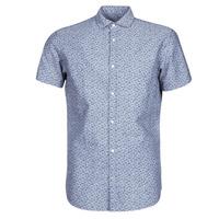 Textiel Heren Overhemden korte mouwen Jack & Jones JPRBLASUMMER Blauw