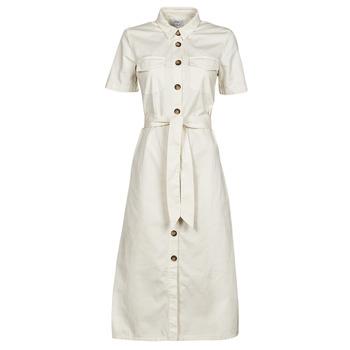 Textiel Dames Lange jurken Betty London ODRESS Ecru