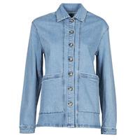 Textiel Dames Spijker jassen Betty London OVEST Blauw / Medium