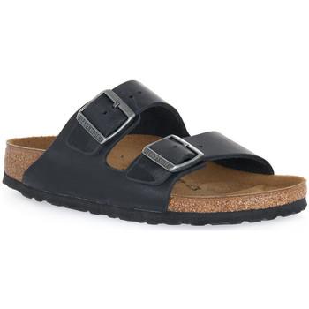 Schoenen Leren slippers Birkenstock ARIZONA BLACK OILED CALZ S Nero