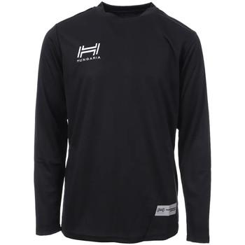 Textiel Heren T-shirts met lange mouwen Hungaria  Zwart