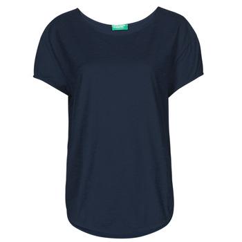 Textiel Dames T-shirts korte mouwen Benetton FOLLIA Blauw
