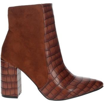 Schoenen Dames Enkellaarzen Pregunta PFC9144-MC Brown leather