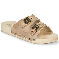 Schoenen Dames Leren slippers Scholl PESCURA 2 STRAPS Bruin