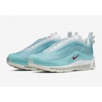 Schoenen Lage sneakers Nike Air Max 97 Shanghai Kaleidoscope Icy Blue/Red-White