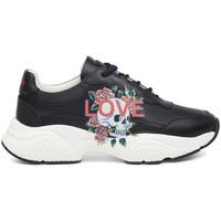 Schoenen Dames Lage sneakers Ed Hardy - Insert runner-love black/white Zwart