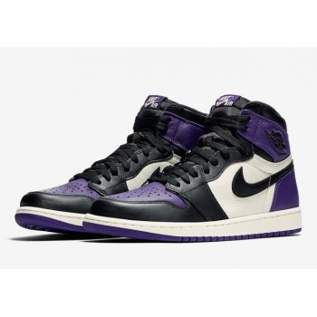 Schoenen Hoge sneakers Nike Air Jordan 1 High Court Purple 1.0 Court Purple/Sail-Black