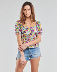 Textiel Dames Tops / Blousjes Yurban OPEET Wit / Multi