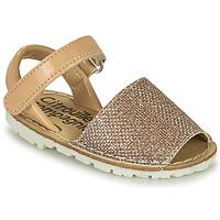 Schoenen Meisjes Sandalen / Open schoenen Citrouille et Compagnie SQUOUBEL Beige