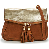 Tassen Dames Schoudertassen met riem Betty London OOSTI Cognac / Goud