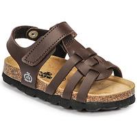 Schoenen Jongens Sandalen / Open schoenen Citrouille et Compagnie JANISOL Bruin / Donker
