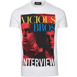 Textiel Heren T-shirts korte mouwen Dsquared S74GD0475 Wit